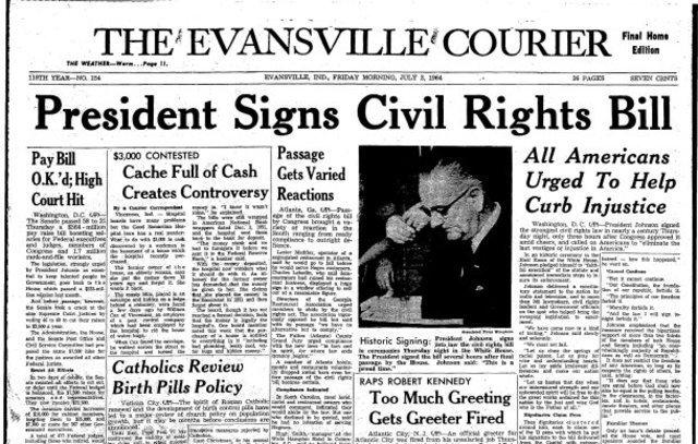 presient singns civil rights bill
